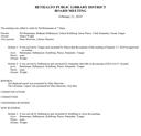 February 21, 2019 Board Minutes