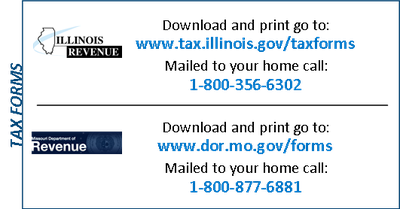 Tax Form Phone Numbers - Back